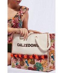 calzedonia beach bag eco woman multicolor size tu