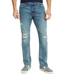 sun + stone men's straight-fit knickerbocker jeans, created for macy's