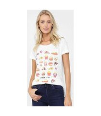 camiseta canal snack bordada