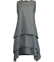 eucalyptus tiered crewneck mini dress