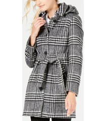 calvin klein hooded belted coat, created for macy's