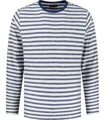 trui stripe donkerblauw