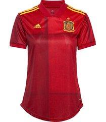 fef h jsy w t-shirts & tops football shirts röd adidas performance