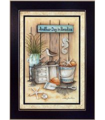 """trendy decor 4u another day in paradise by mary june, printed wall art, ready to hang, black frame, 10"""" x 14"""""""