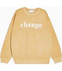 mens yellow mustard change sweatshirt