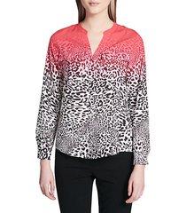 leopard print button-down shirt