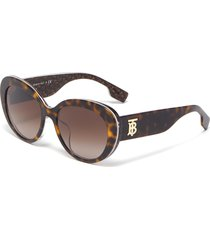 logo print acetate frame cateye sunglasses