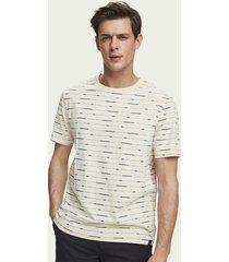 scotch & soda t-shirt met korte mouwen en all-over print van duurzaam katoen