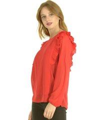 blusa alessia rojo bous