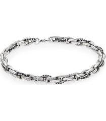 effy women's black sapphire & stering silver link bracelet