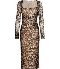 printed mesh knälång klänning multi/mönstrad ganni