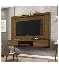painel para tv até 65 pol móveis bechara ametista 2 portas madeira