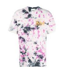 aries camiseta com estampa tie-dye - roxo