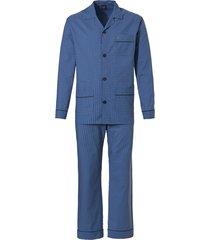robson doorknoop heren pyjama blauw