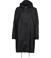 long w jacket regenkleding zwart rains