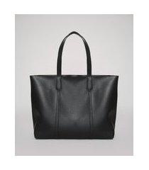 bolsa feminina grande shopper alças duplas preta