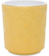 kwietnik osłonka ceramiczna yellow
