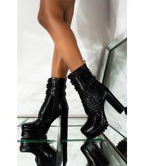 akira azalea wang find a way to say goodbye chunky heel platform bootie