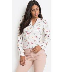 blouse met v-hals