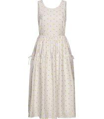 tulula, 880 jasmine taffeta jurk knielengte crème stine goya