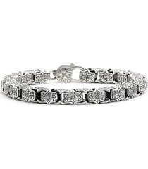 men's konstantino 'minos' etched medium link bracelet