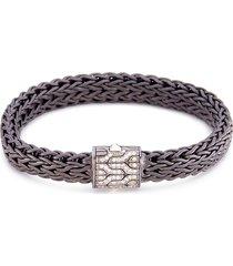 diamond large woven chain bracelet