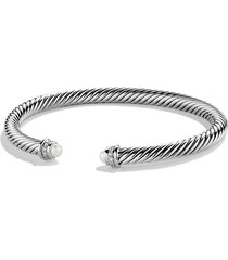 david yurman cable classics bracelet with semiprecious stones & diamonds, size small in pearl at nordstrom