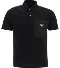 polo shirt with nylon pocket