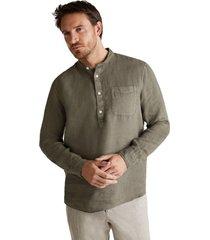 camisa 100 % lino khaki esprit