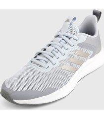 tenis running azul-gris-blanco adidas performance fluidstreet