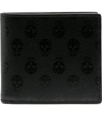 alexander mcqueen skull print wallet - black