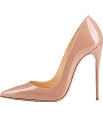 women's patent leather stiletto high heels slip on pointed toe dress pumps