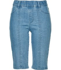 bermuda in jeans con elastico in vita (blu) - bpc selection