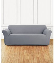 sure fit stretch delicate leaf one-piece sofa slipcover