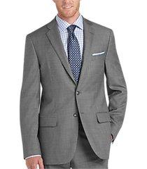 joseph abboud gray sharkskin slim fit suit separates coat