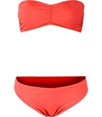 bikini a fascia (set 2 pezzi) (rosso) - bpc bonprix collection