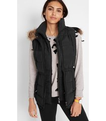 outdoor bodywarmer in layerlook