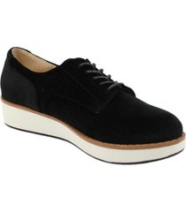 zapatos oxford para mujer via spring via spring - negro