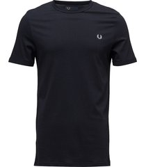 ringer t-shirt t-shirts short-sleeved blå fred perry
