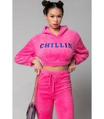 akira just chillin teddy long sleeve hoodie