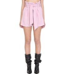 iro steybe shorts in rose-pink polyester