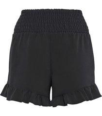 shorts con volant (nero) - bodyflirt