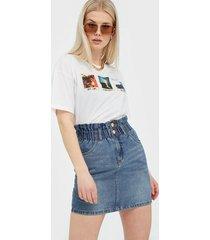 only onlmillie hw mini paper dnm skirt g minikjolar