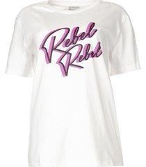 t-shirt met opdruk edith  wit