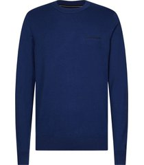 jersey slim con logo bordado azul calvin klein
