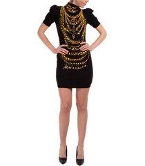women's short mini dress short sleeve chains