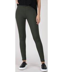 calça legging feminina cintura média verde militar
