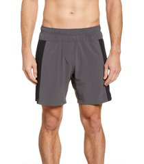men's fourlaps bolt 7 inch shorts, size small - grey