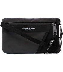 indispensable aurora reflective messenger bag - black
