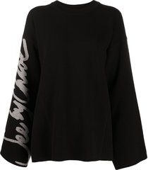 see by chloé bell-sleeved sweater - black